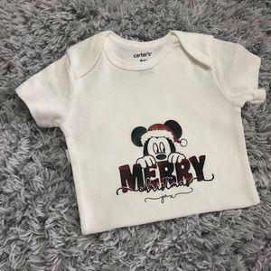 Custom Christmas Mickey onesie